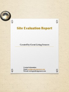 site evaluation report